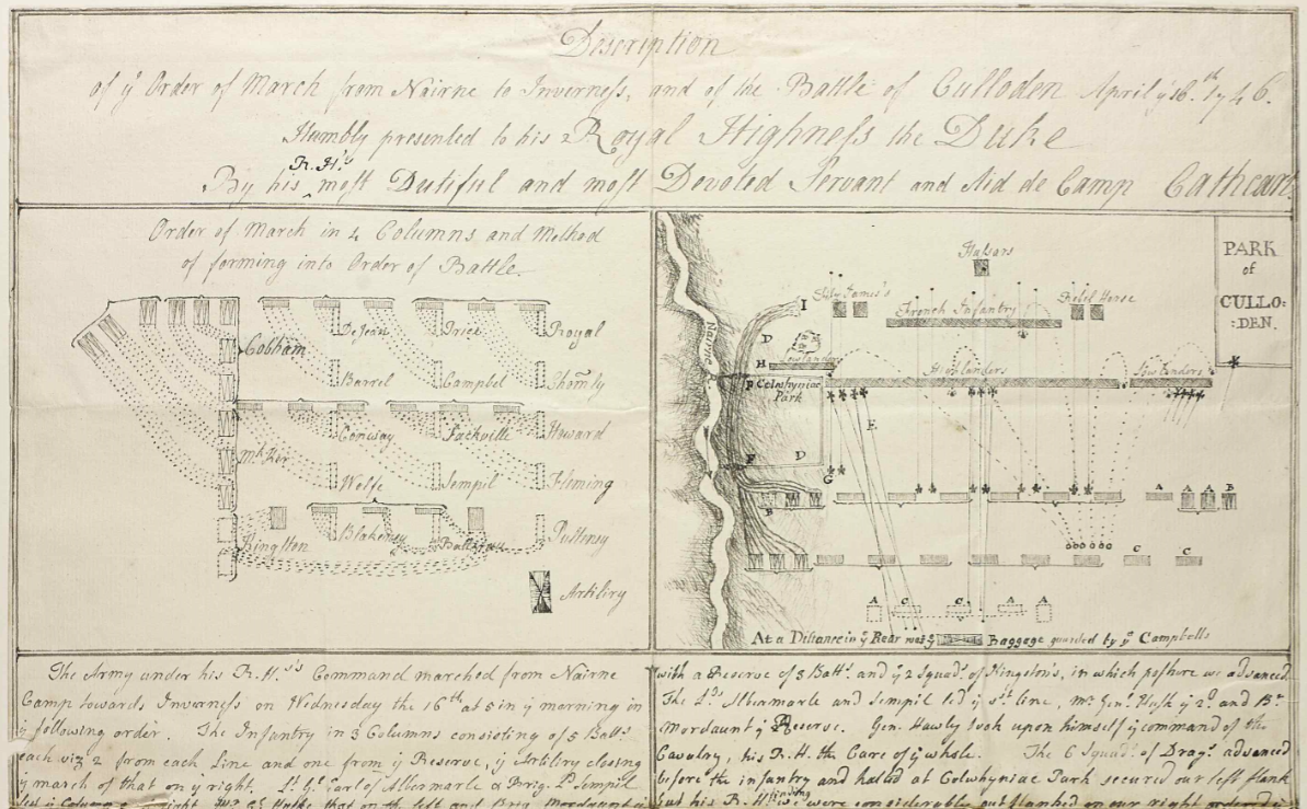 RA CP/Main/14/4a – Account of the Battle of Culloden, April 1746 Supplied by the Royal Archives /© Her Majesty Queen Elizabeth II