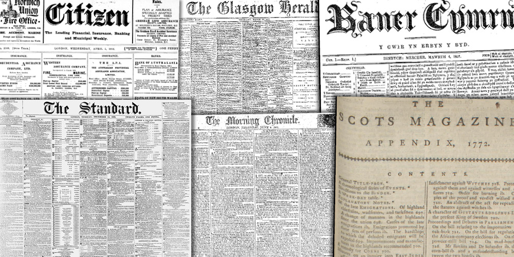Various source media, British Library Newspapers, Part I: 1800–1900
