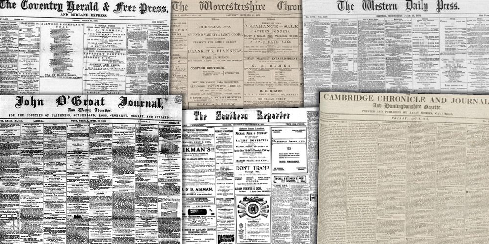 Various source media, British Library Newspapers, Part V: 1746–1950