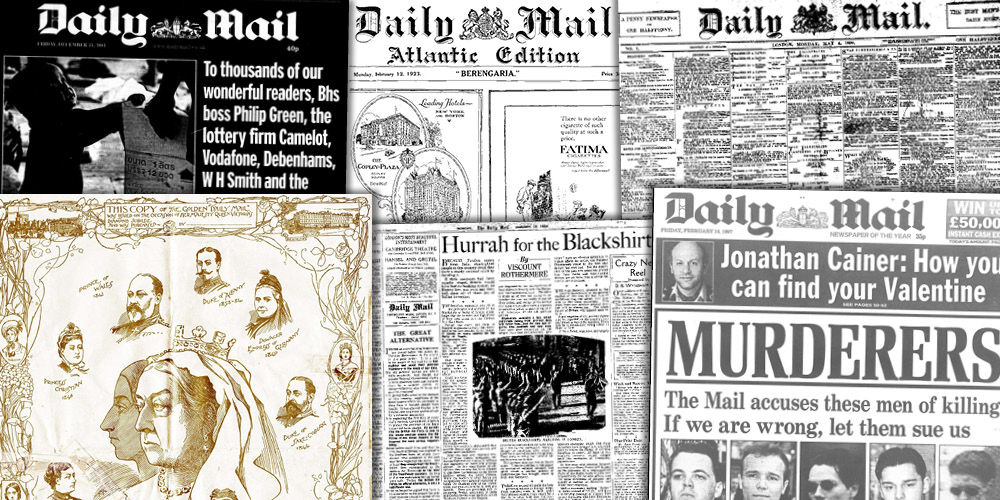 Various source media. Daily Mail Historical Archive, 1896–2016