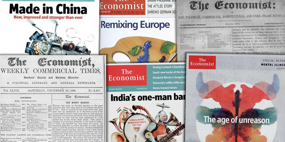 Various source media. The Economist Historical Archive 1843-2015