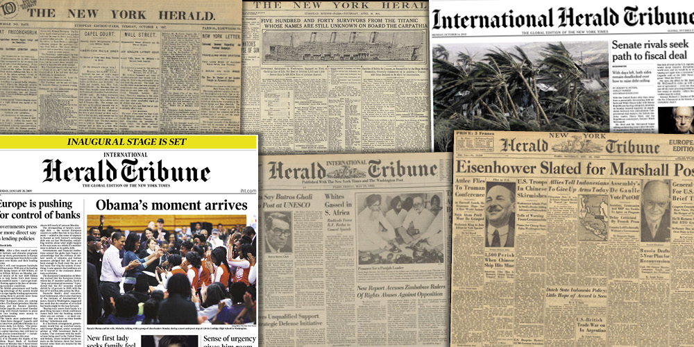 Various source media, International Herald Tribune Historical Archive 1887-2013