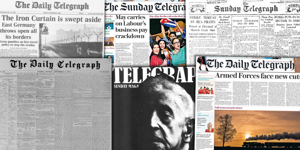Various source media. The Telegraph Historical Archive