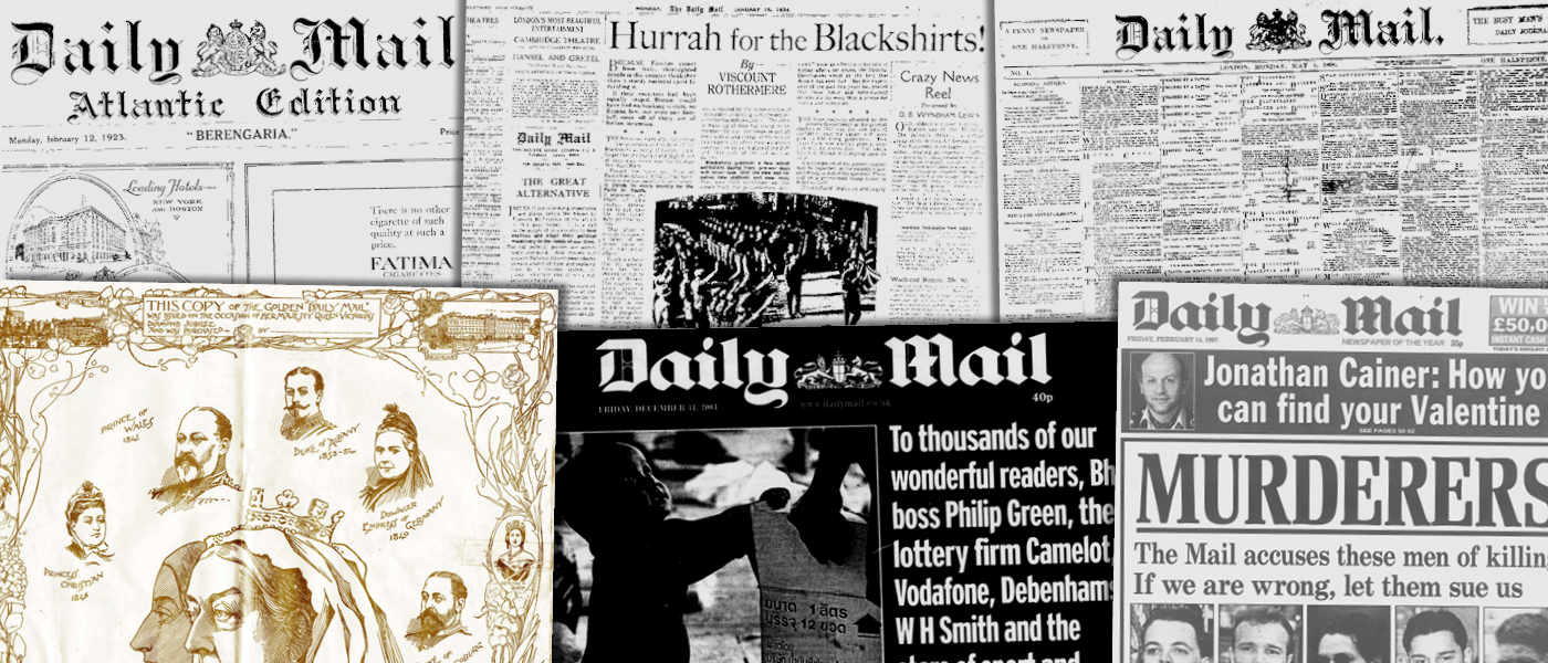 Daily Mail Historical Archive, 1896–2004