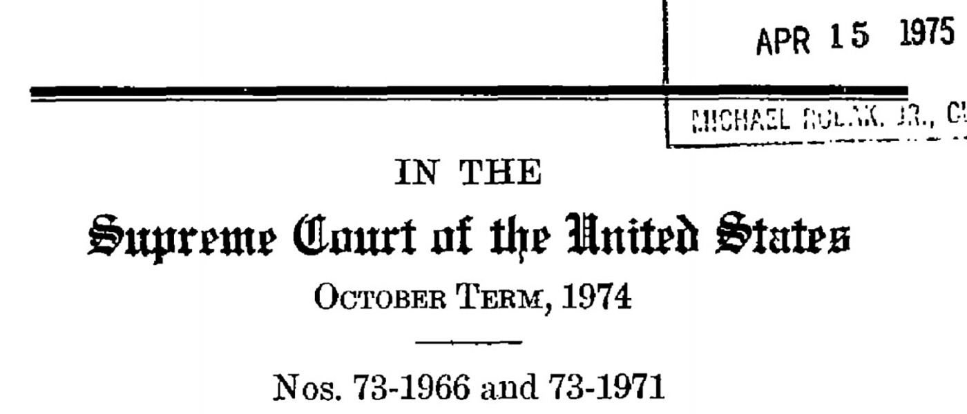Various source media, The Making of Modern Law: U.S. Supreme Court Records and Briefs, 1823-1978