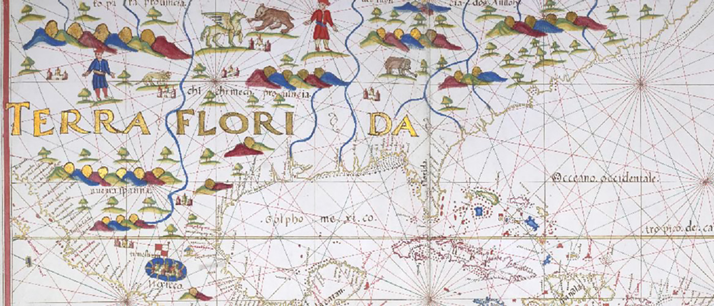 """Map of Central America and West Indies."" before 1600.State Papers Online."