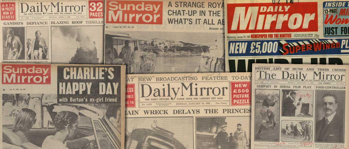 Various source media, <i>The Mirror Historical Archive, 1903-2000</i>