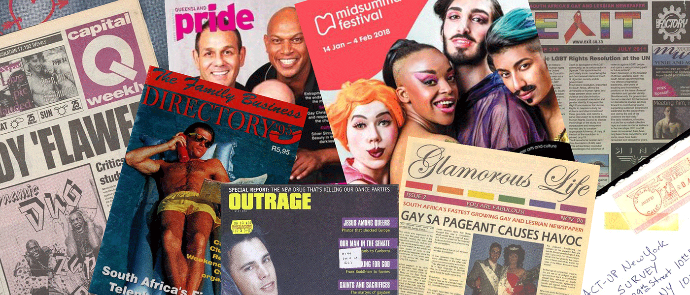 Various source media, Archives of Sexuality and Gender: International Perspectives on LGBTQ Activism and Culture