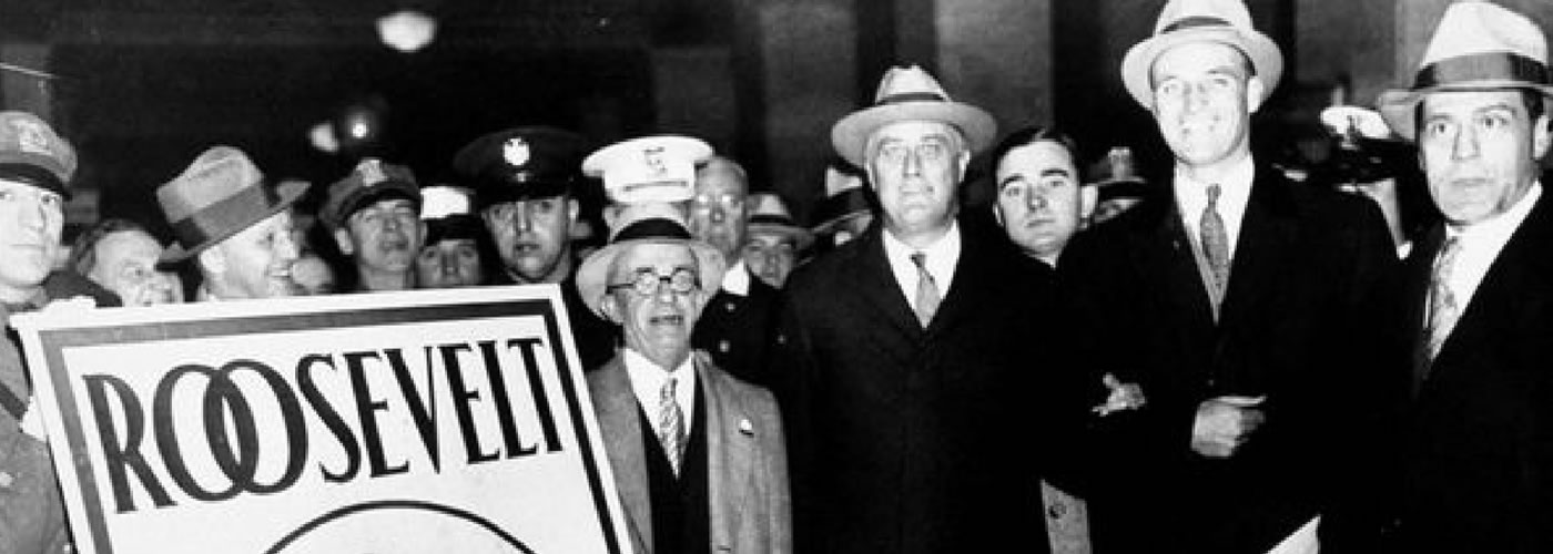 FDR on Election Day, 1928.