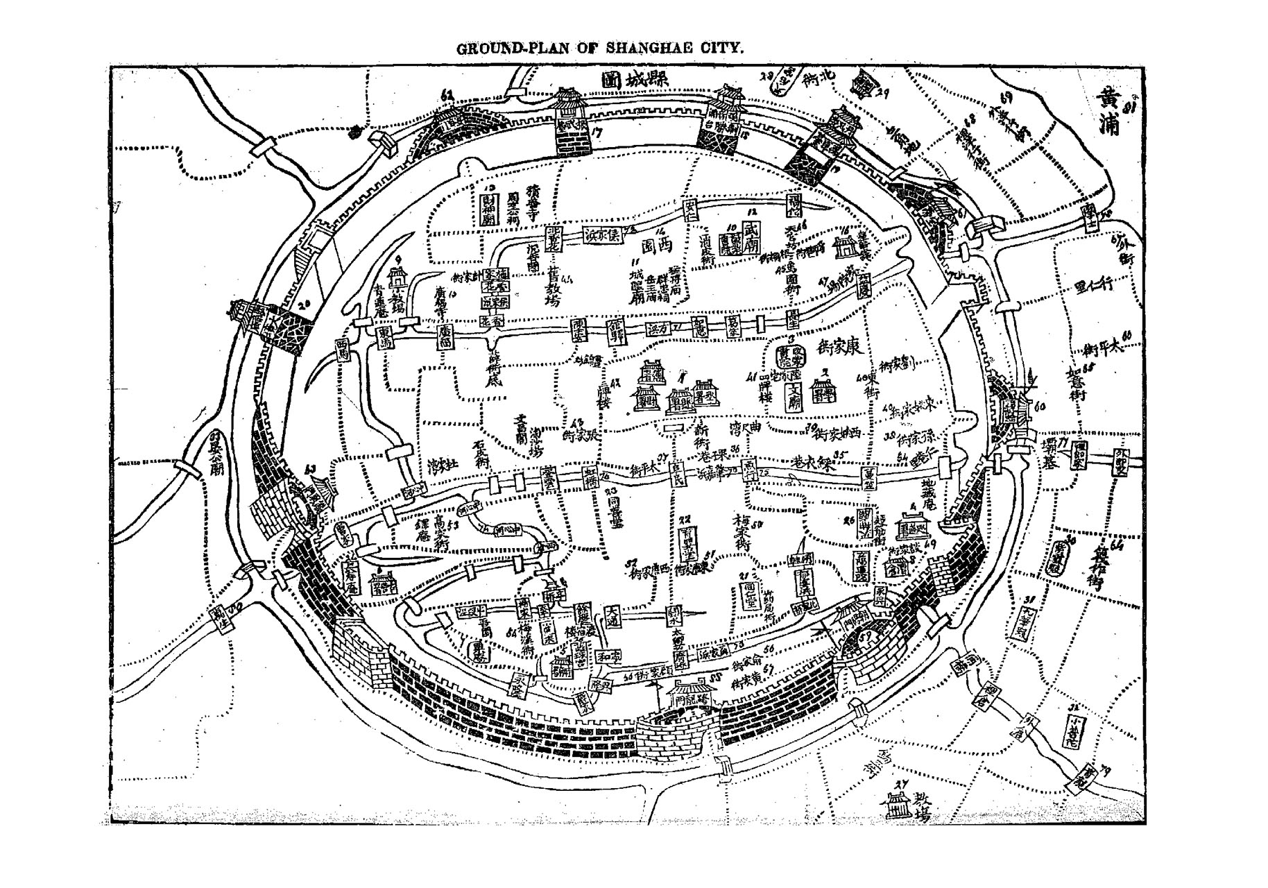 Ground Plan of Shangae City