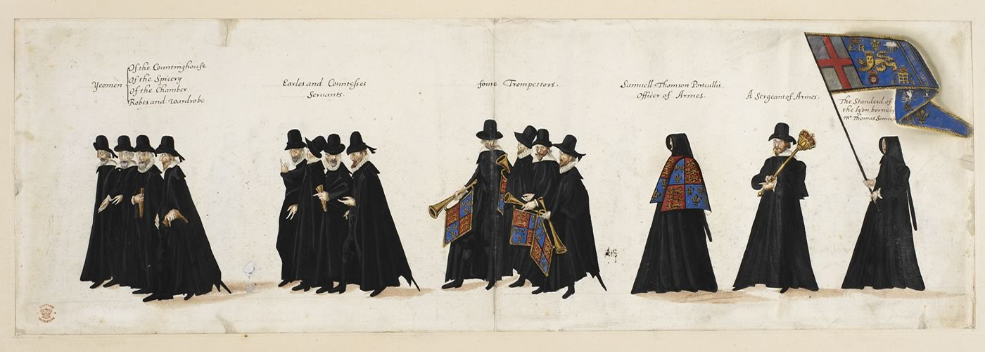Funeral procession of Queen Elizabeth I, 1603 © The British Library Board.