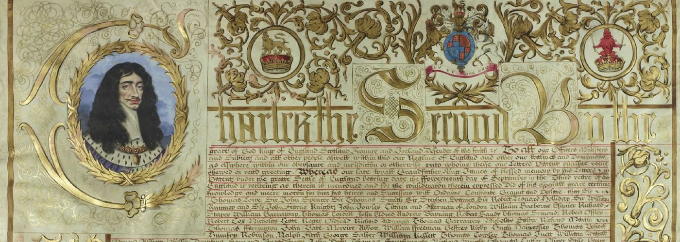 Charter. Document Ref.: SP 105/108 f.1 Folio Numbers: ff. 1- Date: Apr 2 1661