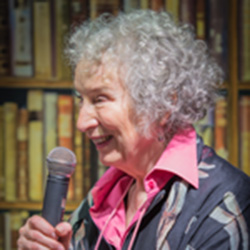 Margaret Atwood in Stockholm in June 2015 (Wikimedia Commons)