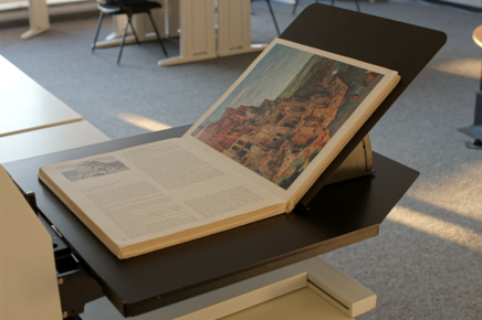 Image of a book in a V-Cradle