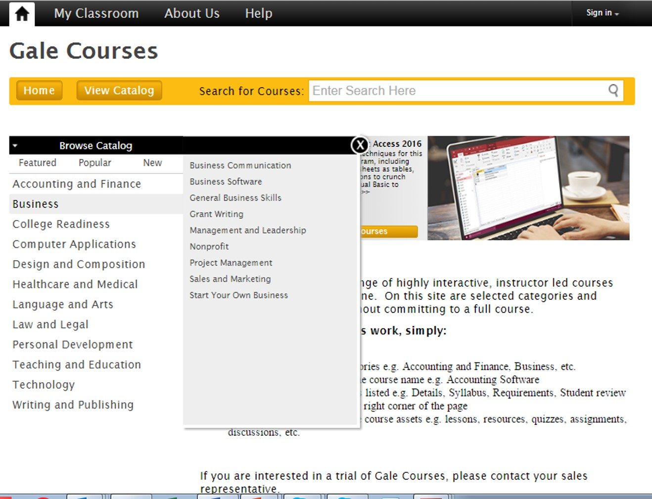 cengage course catalog