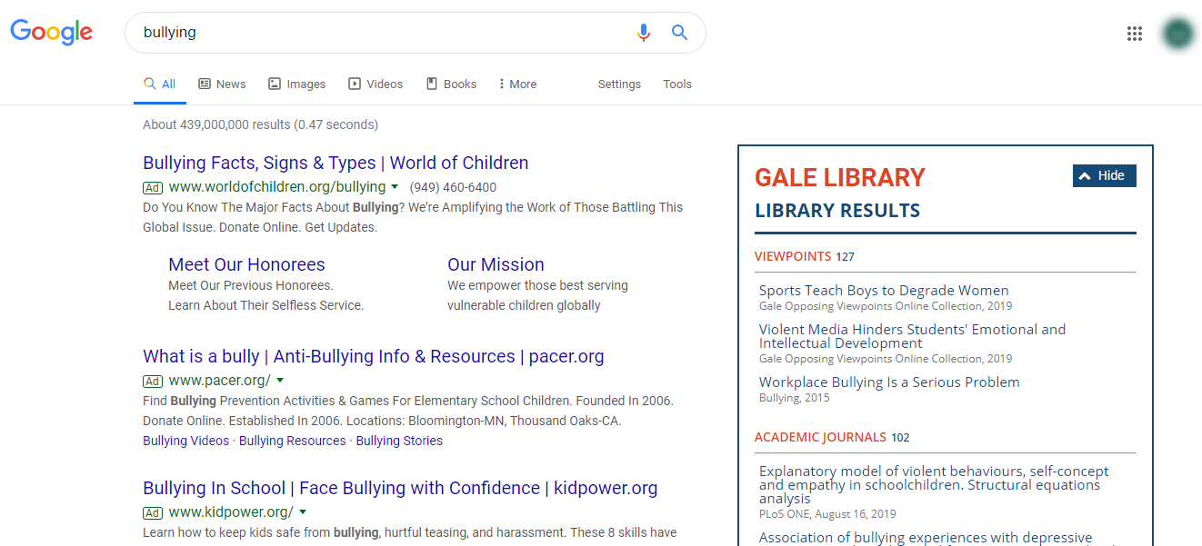 Gale In Context: Opposing Viewpoints Chrome Extension