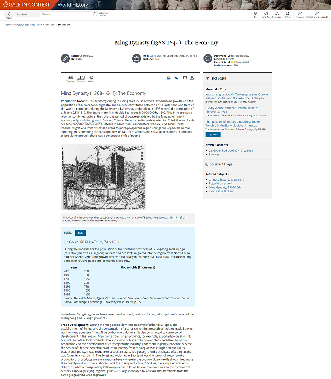 Gale In Context: World History Document Page