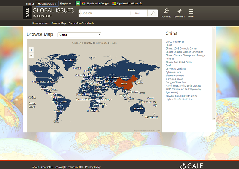 Global Issues in Context Map
