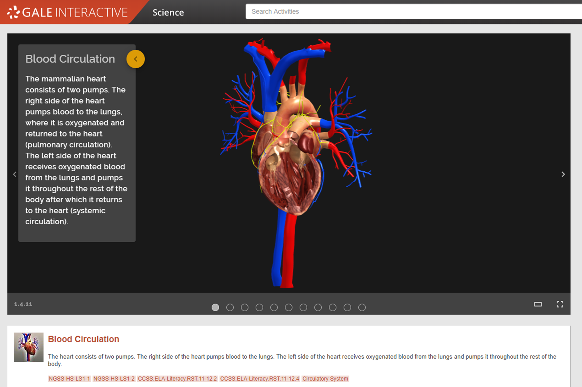 Gale Interactive Science Heart