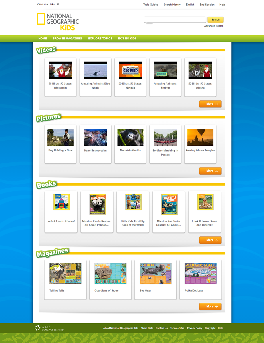 National Geographic Virtual Library: National Geographic Kids