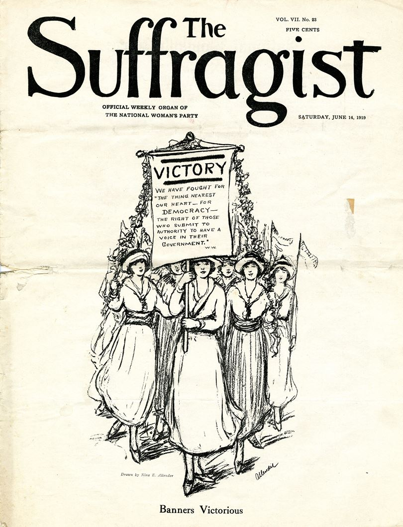 The June 14, 1919, issue of The Suffragist, a weekly newspaper published from 1913 to 1921.
