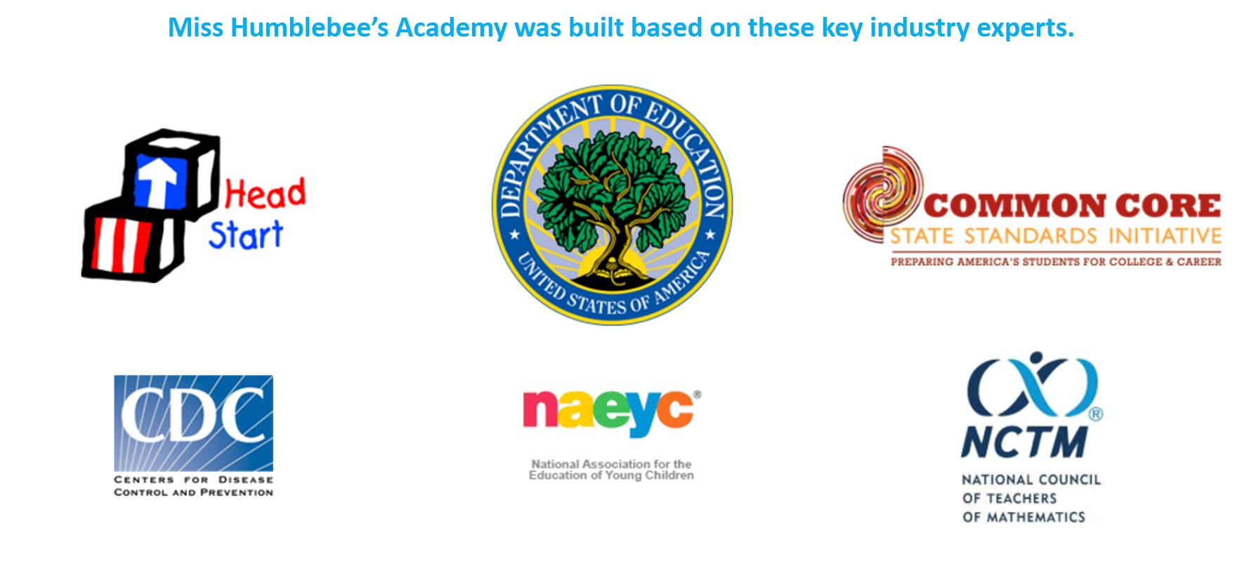 The program presents learning concepts based on guidelines from these organizations.