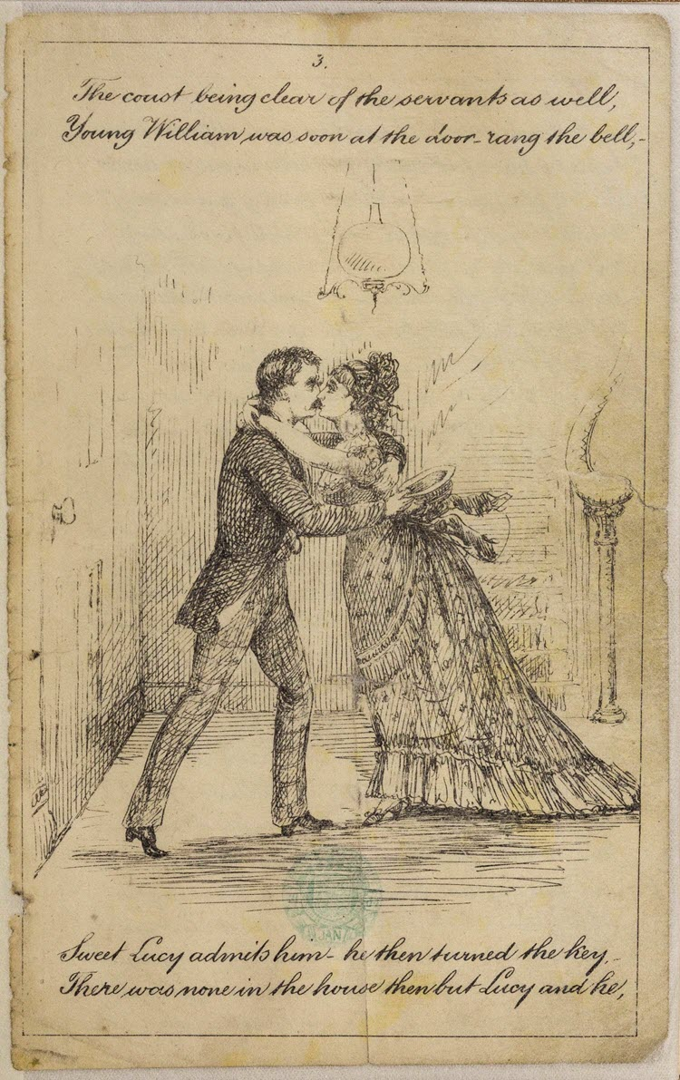A Private Interview between Young William & Sweet Lucy. A poem, etc. [With illustrations.]. [c. 1890]. Archives of Sexuality & Gender
