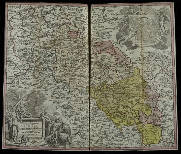 Map of Silesia marked up in 1741 during the negotiations with Frederick II of Prussia and sent to Robinson with the negotiating points by Philippe de Sizendorf on behalf of Maria Theresa of Austria.  All images © Reproduced by kind permission of The National Archives of the UK.