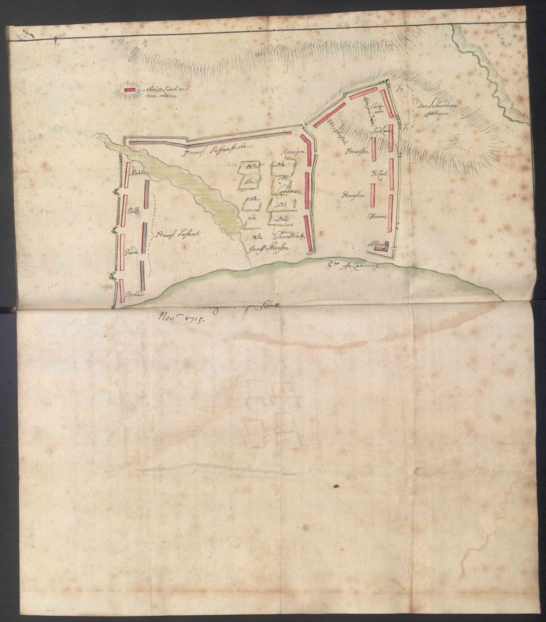 Sp088-023_0039 – SP88/23 f.39: Plan of the Isle de Rugen, November 1715